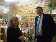 "Stephen Mosley MP visits Kitsch Krafts @ the Post Office in Saltney - a new business established thanks to New Enterprise Allowance • <a style=""font-size:0.8em;"" href=""http://www.flickr.com/photos/51035458@N07/11115632543/"" target=""_blank"">View on Flickr</a>"