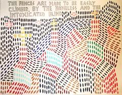 La rejas están hechas para saltarlas fácilmente... Gouache sobre papel acuarela. 2013.