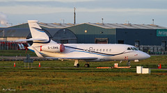 Aviation Beauport  Falcon 2000LX G-LSMB (Heat Haze) (birrlad) Tags: private airplane airport haze aircraft aviation airplanes jet shannon heat falcon parked passenger dassault taxiway bizjet snn beauport 2000lx glsmb