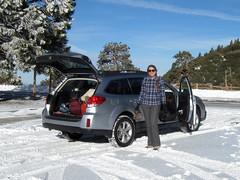 Ingrid and her Snowmobile (simonov) Tags: snow ingrid hiking climbing subaru mountaineering outback sangabrielmountains 2013 mtbadenpowell