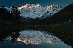 Nanga Parbat massif (8,126 m) (Johan Assarsson) Tags: pakistan mountain lake reflection himalaya massif nangaparbat killermountain fairymeadows 2013 nakedmountain