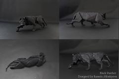 Black Panther_POV (Sunny Marmalade) Tags: black paper origami panther folding kunsulu jilkishiyeva