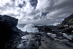 Makapuu Splash (HDR) (Steven W Lum) Tags: hawaii oahu shoreline makapuu crashingwave
