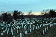 Arlington National Cemetery at sunset (presbi) Tags: usa cemetery arlington mygearandme mygearandmepremium mygearandmebronze mygearandmesilver