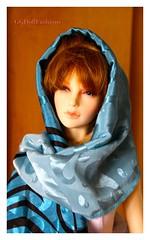 Silk-Chiffon Scarf for BJD (ggdollfashions) Tags: scarf handmade eid silk chiffon sd bjd accessory