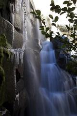 Freezing waterfall (Getting Better Shots) Tags: seattle water rocks downtown stones waterfalls cascading