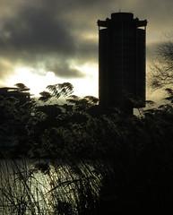 la tour qui faisait peur (doubichlou) Tags: cloud lake france sunrise soleil poetry glory lac ile lovers ciel val suburb nuage paysages vues lever banlieue sku marne ailleurs