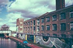 Canal, Hackney Wick ({Laura McGregor}) Tags: street city urban london art water graffiti canal east warehouse hackney ricoh hackneywick grd