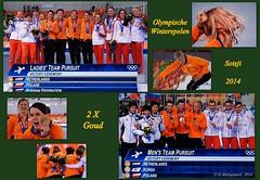 De laatste schaats medailles zijn verdeeld ! 2x Goud (ditmaliepaard) Tags: dames 2014 heren olympischespelen svenkramer ploegenachtervolging lottevanbeek marritleenstra koenverweij janblokhuijsen jorientermors sotsji irenewust medailleuitreiking nederlandgoud