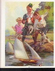 1939 calendar pond boats racing (oldsailro) Tags: park old boy sea summer people sun lake playing beach water pool girl sunshine youth sailboat race vintage children fun toy boat miniature wooden pond model waves sailing ship time yacht antique group boom mast hull keel