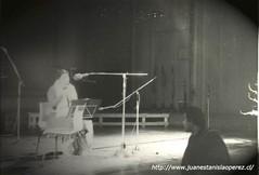 Con Mercedes Sosa. Ensayo en la Radio Nacional de Alemania