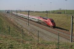 Thalys PBKA 4341 HSL 2 Vorsen Gingelom 12/03/2014 (Break302) Tags: hsl2 thalyspbka