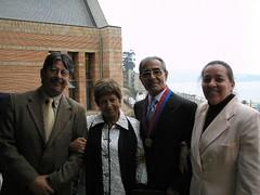 Con mi esposa Ana Rosa Alfaro Robledo, junto con los queridos amigos y colegas Tirso Aravena y su esposa Ana María Méndez. Martes 18 de abril de 2006.