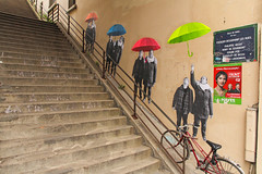 Rue Manin - Paris (France) (Meteorry) Tags: street paris france art bicycle wall stairs march europe îledefrance nobody rue bicyclette mur mouvement escaliers 2014 artderue arturbain meteorry ruemanin lemouvement frontdegauche ruebarreletdericou ruephilippehecht rueremydegourmont rueedgarpoë ingridhayes 417i