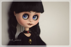 Blyh (Art_emis) Tags: art girl altered work toy toys design carved doll hand handmade vampire character painted teen custom clone artemis blyth middie reshaped