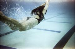 Underwater (NMRPhotography) Tags: film water swimming canon photography underwater kodak fineart swimteam umbc expiredfilm underwaterphotography nmrphotography