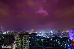 Purple Monsoon In Dhaka (nabhan.zaman) Tags: longexposure storm canon long exposure purple monsoon dhaka lightning tornado bangladesh thunder 6d zaman nabhan monsoonn