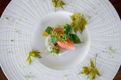 Taste B.C. at Canoe (Oliver & Bonacini) Tags: food toronto canada menu recipe restaurant maple bc smoke salmon canoe ob taste caviar coho