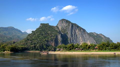 Mekong scenery (PeterCH51) Tags: mountain mountains nature water river landscape scenery hills caves laos mekong luangprabang mekongriver pakou 5photosaday pakoucaves banpakou peterch51 mekongscenery