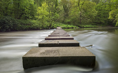 Humford Mill Stepping Stones (Callaghan69) Tags: uk longexposure mill landscape countryside nikon scenery crossing stones northumberland le stepping slowshutter rivercrossing countrypark humford northeastengland bedlington d7100 riverblyth tokina1116 haida10stop