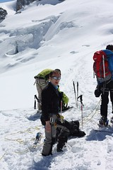 Tranquille le FReD sur le glacier sans les skis aux pieds (Jauss) Tags: ski alps alpes chamonix alpi montblanc
