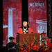 Chancellor Randy Woodson welcomes the crowd to PNC Arena for spring 2014 commencement exercises.