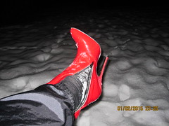 IMG_7604 (ThighBootsinMud) Tags: snow leather fetish boot mud boots thigh heels muddy patent