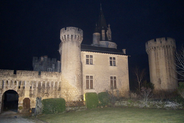 Castle Exterior at Night