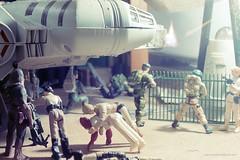 Holding the line (Macroworlder) Tags: star joe millennium falcon kenner wars gi hasbro