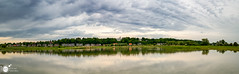 [E X P L O R E] Wageningen Cityscape (Robert Stienstra Photography) Tags: panorama reflection water clouds reflections landscape outdoors landscapes cityscape view pano cityscapes wageningen skyscapes cloudscapes waterscape uiterwaarden gelderland landschappen cloudformations landscapephotography skyporn geldersestreken
