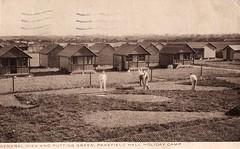 Pakefield Hall Holiday Camp (pre Pontins) (trainsandstuff) Tags: vintage postcard chalets pontins holidaycamp pakefield pakefieldhall