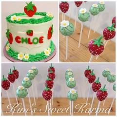Berry Sweet birthday (Kim's Sweet Karma) Tags: blossoms strawberries napavalley strawberryshortcake cakepops kimssweetkarma