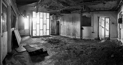 Homely (Dell's Pics) Tags: old urban panorama building hospital room pano exploring ruin olympus explore abandonded derelict omd flintshire holywell em5 lluesty
