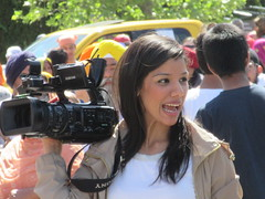 Recording the event (jamica1) Tags: camera woman canada temple video bc okanagan columbia british kelowna sikh videocam videographer vaisakhi