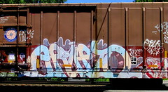 erupto (timetomakethepasta) Tags: erupto a2m d30 freight train graffiti hcmx boxcar gold medal general mills
