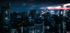 a look into the future - inspired by Blade Runner (Rob-Shanghai) Tags: china city blue night cityscape shanghai bladerunner sony future modernchina a6000