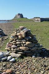 holy island (Julaquinte) Tags: nt northumberland nationaltrust holyisland lindisfarne rockpiles lindisfarnecastle stonestacks