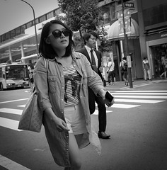 Sunglasses (Bill Morgan) Tags: street bw tokyo fuji fujifilm kichijoji lightroomcc x100t