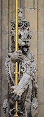 Lion with Staff (pjpink) Tags: uk england london architecture spring britain may housesofparliament parliament government ornate neogothic palaceofwestminster 2016 pjpink