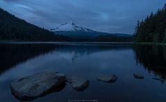 Blue Hour (John Behrends) Tags: lake oregon trillium pentax mthood trilliumlake mthoodnationalforest pentaxk3
