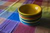 table cloth colors-032 (swardraws) Tags: colorful dish bowl fiestaware