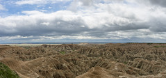 Burns Basin Overlook (s.d.sea) Tags: park travel vacation sky panorama terrain west color nature clouds landscape outdoors spring midwest scenery rocks angle pentax hiking south wide cliffs basin hills explore national valley badlands overlook dakota conata