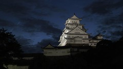Himeji Castle Blue Hour (maco-nonchR) Tags: lighting blue light sky castle night evening illuminated hour himeji manual  histrical  allmanual
