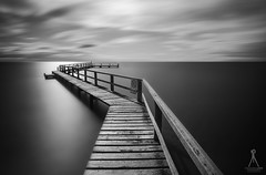 CROOKED (Laws Photography | www.lawsphotography.com) Tags: longexposure light blackandwhite bw white seascape black monochrome canon landscape pier outdoor jetty fineart le morningtonpeninsula portsea ndfilter daytimelongexposure leadingline neutraldensityfilter longshutterexposure blackandwhitefineart canon6d nd10stop lawsphotography vaughanlaws longexposurebwfineart