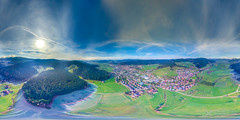 360 Panorama from above / Zell am Harmersbach / Black Forest / Schwarzwald (Nolle15) Tags: city sky panorama mountain mountains clouds germany deutschland flying wolken 360 aerial inspire baden schwarzwald blackforest drone badenwrttemberg dji