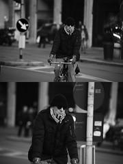[La Mia Citt][Pedala] (Urca) Tags: portrait blackandwhite bw bike bicycle italia milano bn ciclista biancoenero mir bicicletta 2016 pedalare dittico 85535 nikondigitale ritrattostradale