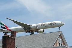 IMG_2591 (wmcgauran) Tags: boston airplane airport aircraft aviation emirates boeing bos 777 eastboston kbos a6ecp