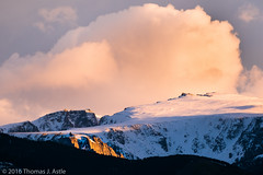 High Altitude Sunset (Tom's Macro and Nature Photographs) Tags: sunset snow mountains clouds montana eastrosebud beartoothmountains landscapephotography