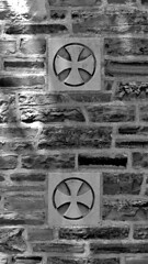 Crosses patte (Will S.) Tags: bw toronto ontario canada church churches christian christianity mypics anglican protestant protestantism anglicanism stclementsanglicanchurch crosspatte