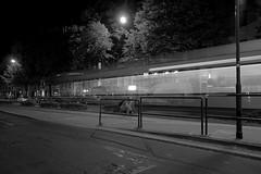 Leipzig bei Nacht (ingrid eulenfan) Tags: bw nacht sony leipzig schwarzweiss karli strassenbahn nachtaufnahme karlliebknechtstrasse langzeitbelichtung sigma1020mm schw sonyalpha65 weitwinkelobjektivsigma1020mm